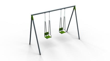 recess: double swing 3d illustration render Stock Photo