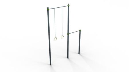 sports equipment: Calisthenics parallel bars 3d illustration render