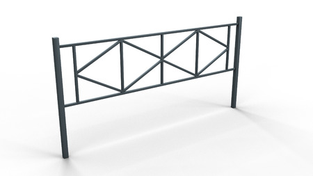 section of the fence 2 3d illustration render Stock Photo