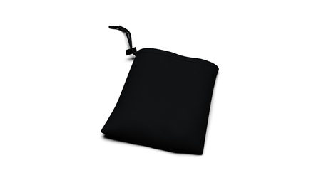 Black ready for branding synthetic fabric bag 3D illustration render