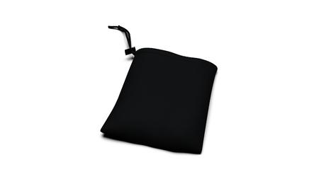 Noir prêt pour l'image de marque sac en tissu synthétique rendu 3D illustration