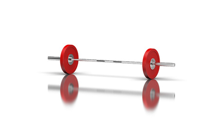 Barbell with 1 disc on both sides Stock Photo