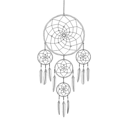 dreamcatcher on white background 3d illustration render