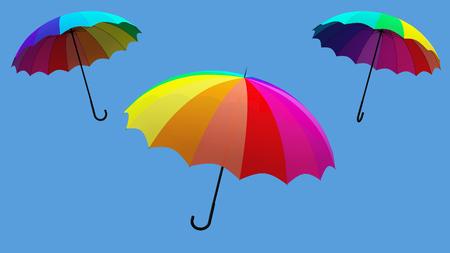 umbrella rotation 3d illustration render