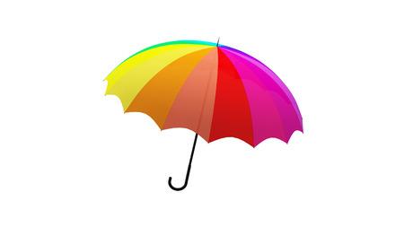 umbrella rotation animation 3d illustration render Archivio Fotografico