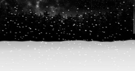 moving through night winter snow forest animation2 Standard-Bild