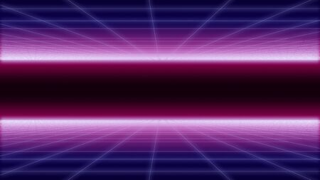 synthwave net and 2 sides Background 3d render 写真素材