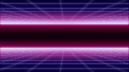 synthwave net and 2 sides Background 3d render Standard-Bild