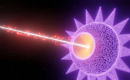 Synthwave Star Sun Seamless animation 3d render