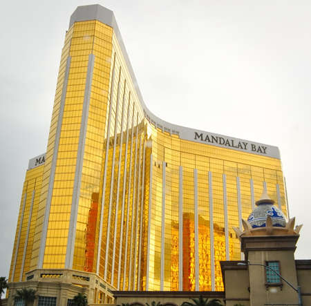LAS VEGAS, NEVADA - JANUARY, 2016: Mandalay Bay hotel and casino part of the MGM resorts and host to Michael Jackson One show