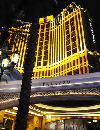 LAS VEGAS, NEVADA - JANUARY, 2016: Palazzo Hotel and casino that hosts the show BAZ - Star Crossed Love Editorial