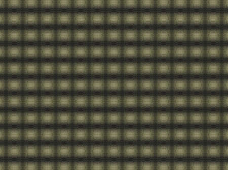 lattice window: Abstract extruded squares pattern. Colors black, yellow and green.  Stock Photo