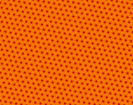 concave: Red and orange pattern with stars with 6 sides. Concave hexagon shapes are over the stars.