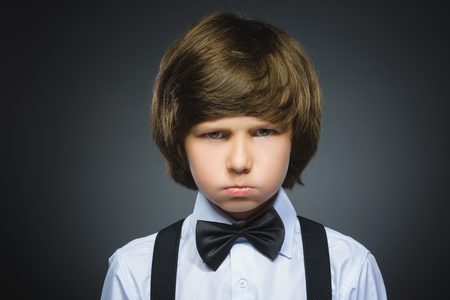ocd: Closeup sad boy with worried stressed face expression.