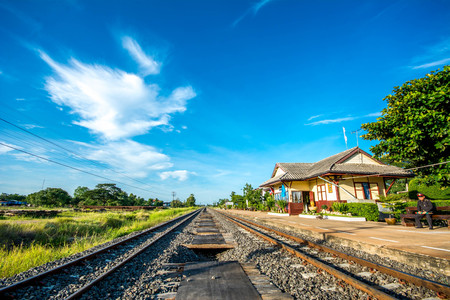 Thailand old style railway station