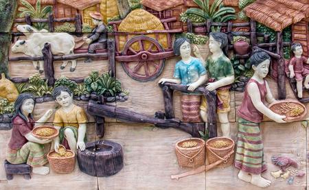 sandstone: Thailand sandstone craft Stock Photo