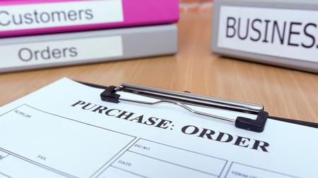 orden de compra: Compra formulario de pedido onwooden mesa