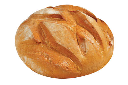 loafer: fresh bread on a white background Stock Photo