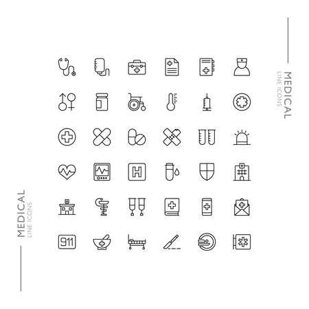 Medical and Health Minimalistic Slim Modern Line Icons