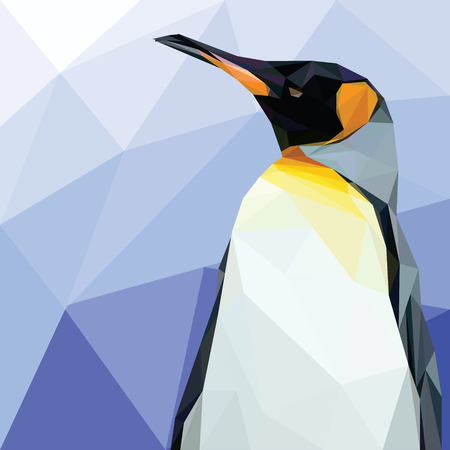 Bird Animal Lowpoly Vector Background Template Иллюстрация