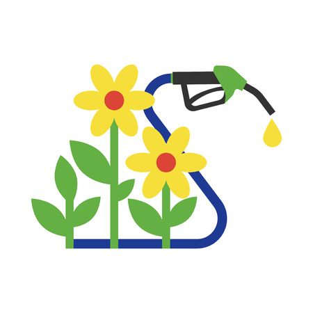 Power alternative energy and eco concept technology. Renewable nature environmental industry. Source electricity conservation vector illustration.