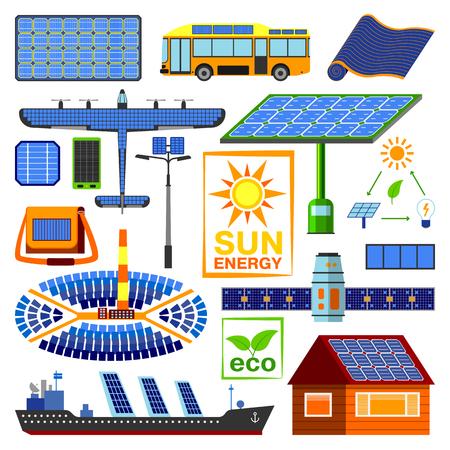 Solar energy vector set.