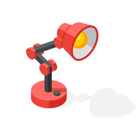 Cartoon lamp vector illustration. Illustration