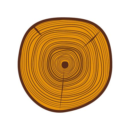 rings on a tree cut: Tree wood slices vector.