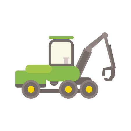 Agricultural tractor vector illustration.