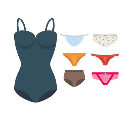 Underwear clothes vector set.