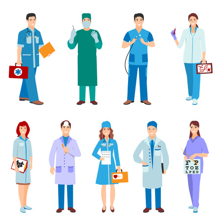 Doctor character vector isolated Фото со стока - 68941820