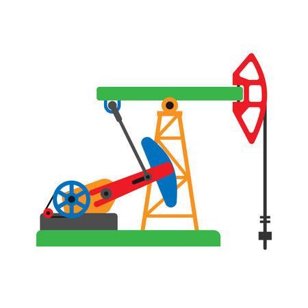Oil extraction platform vector illustration Ilustração