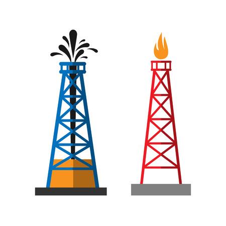extraction: Oil extraction platform vector illustration Illustration