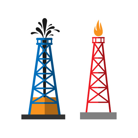 Oil extraction platform vector illustration Illustration