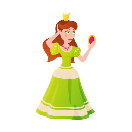 Princess character vectorillustration.