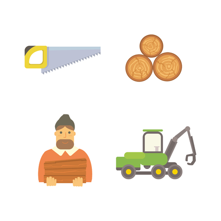 Timber icons illustration.