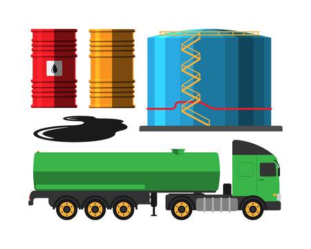 extraction: Oil extraction truck illustration Illustration