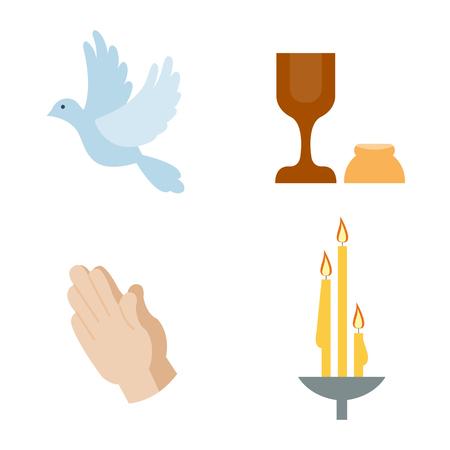 holy book: Religion icons vector illustration. Illustration