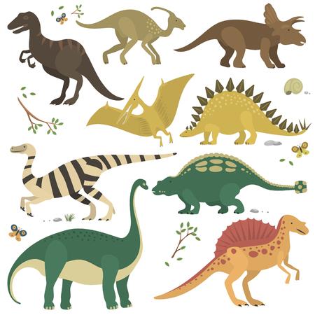 Vector cartoon dinosaurs.