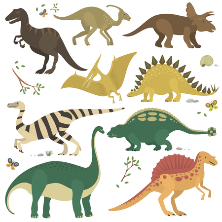 Vector cartoon dinosaurs.