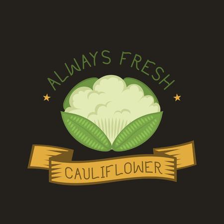 Cauliflower icon in flat style vector illustration. Ilustração