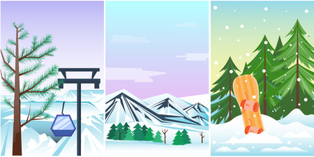 holidays: Winter holidays landscape vector illustration. Illustration