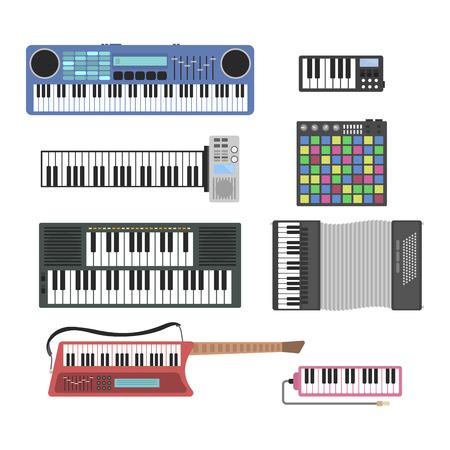 Tastenmusikinstrumente Vektor-Illustration. Standard-Bild - 70981926
