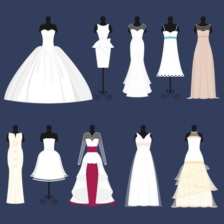 mariée mariage célébration robe vecteur