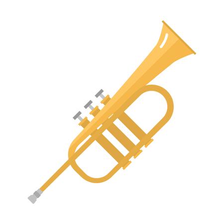 Saxophone icon music classical sound instrument vector illustration. Illustration