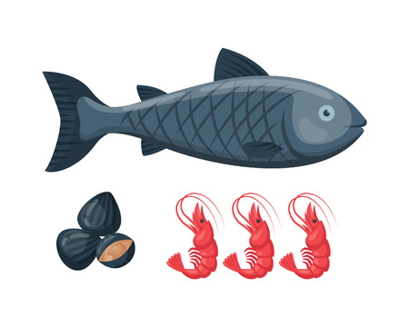 Vector illustration for artwork codfish.