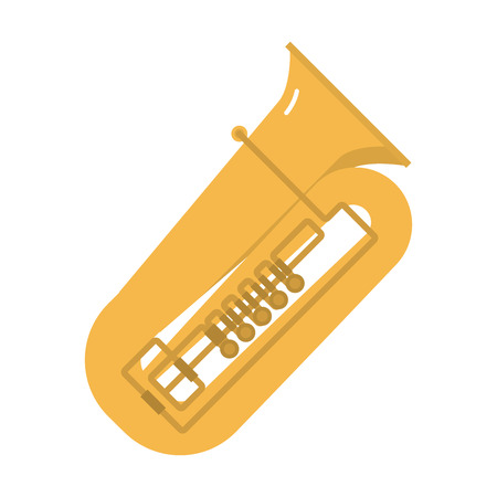 symphonic: Trombone tuba trumpet classical sound vector illustration. Illustration