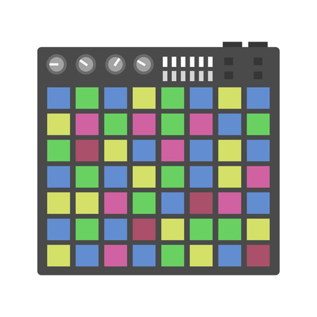 Creative modern musical instruments concept midi launchpad vector.