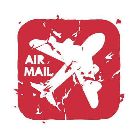 Vector vintage postage air mail stamp.
