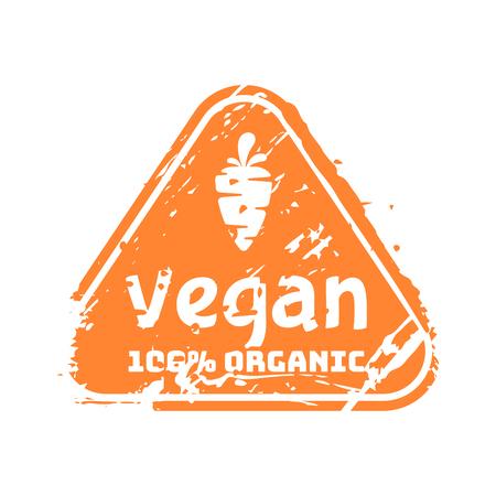 Vector retro vegan teal vintage stamp for quality mark.